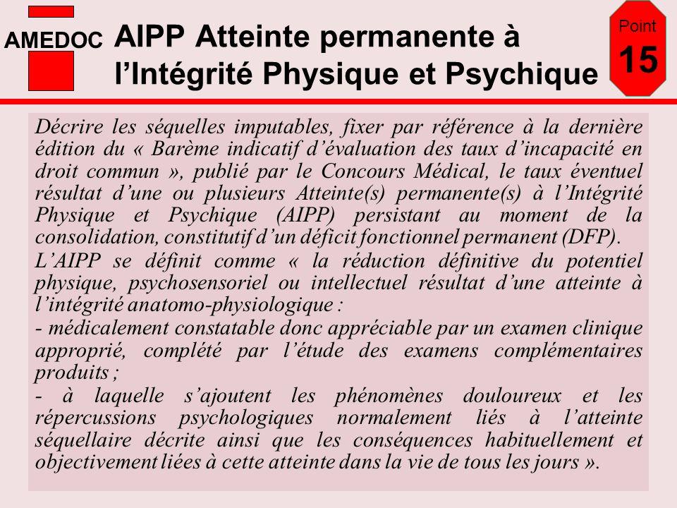 AIPP Atteinte permanente à l'Intégrité Physique et Psychique