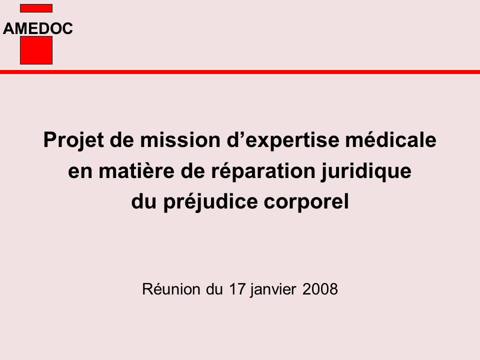 Projet de mission d'expertise médicale