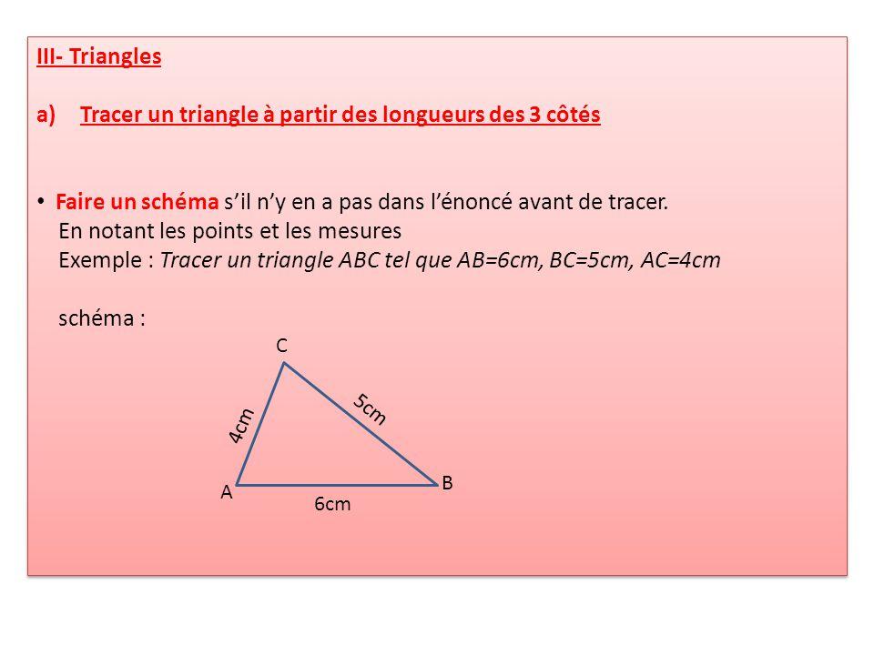 Tracer un triangle à partir des longueurs des 3 côtés