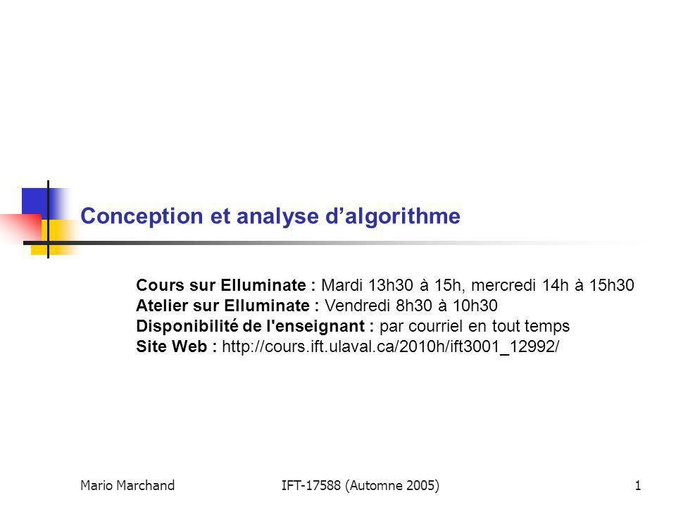 Conception et analyse d'algorithme