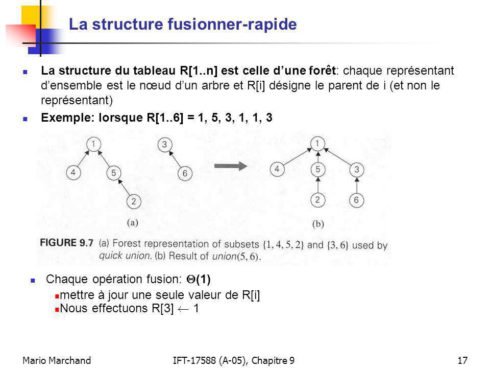 La structure fusionner-rapide