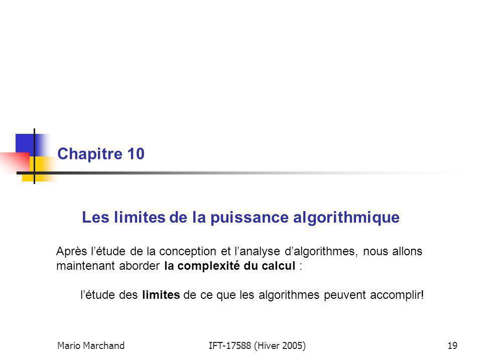 Les limites de la puissance algorithmique