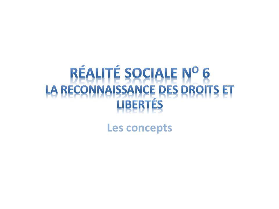 Réalité sociale no 6 La reconnaissance des droits et libertés