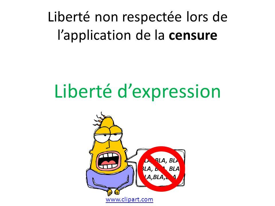 Liberté non respectée lors de l'application de la censure