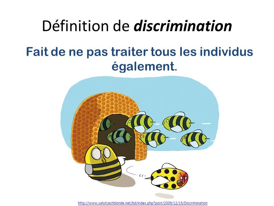 Définition de discrimination