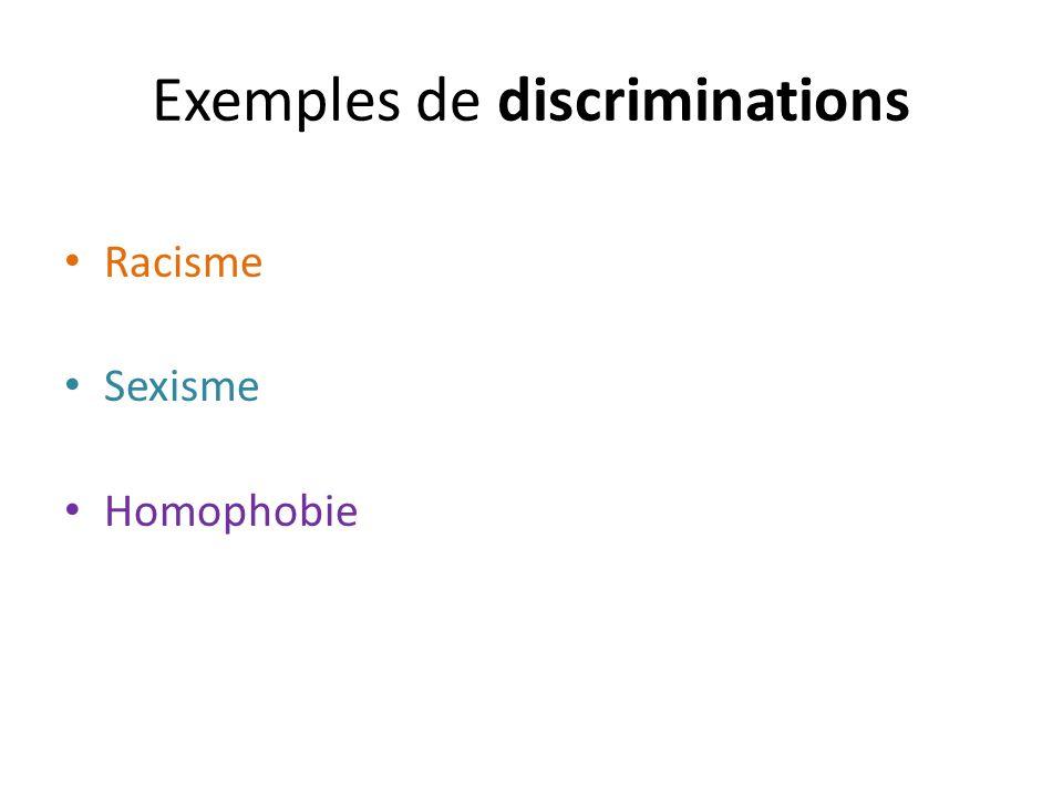 Exemples de discriminations