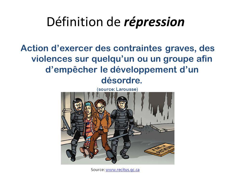 Définition de répression