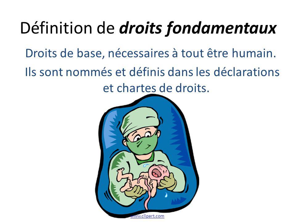 Définition de droits fondamentaux