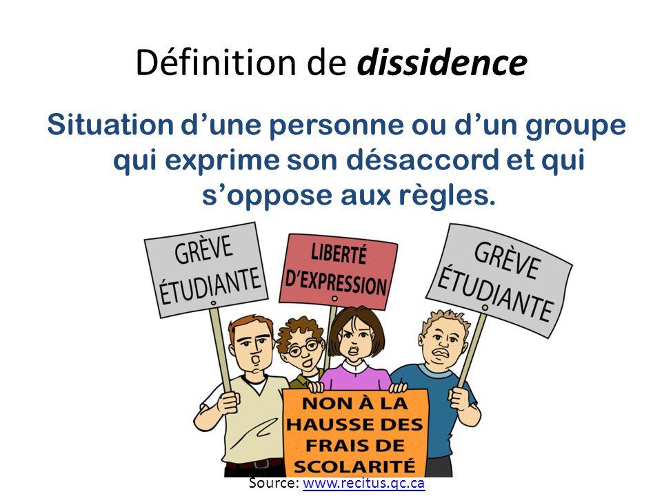 Définition de dissidence