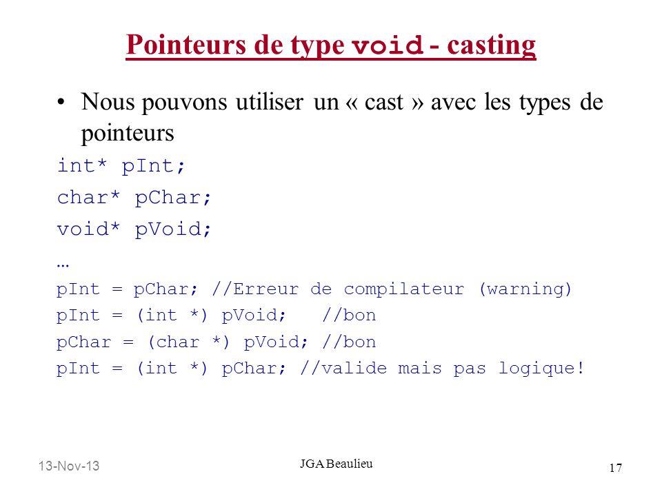 Pointeurs de type void - casting