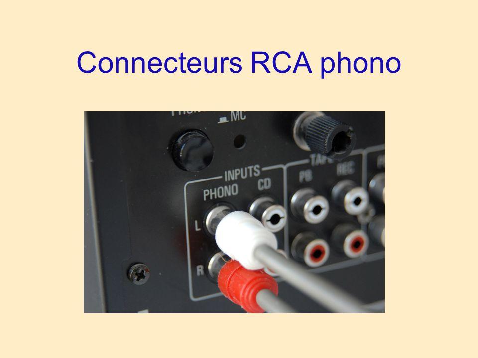 Connecteurs RCA phono
