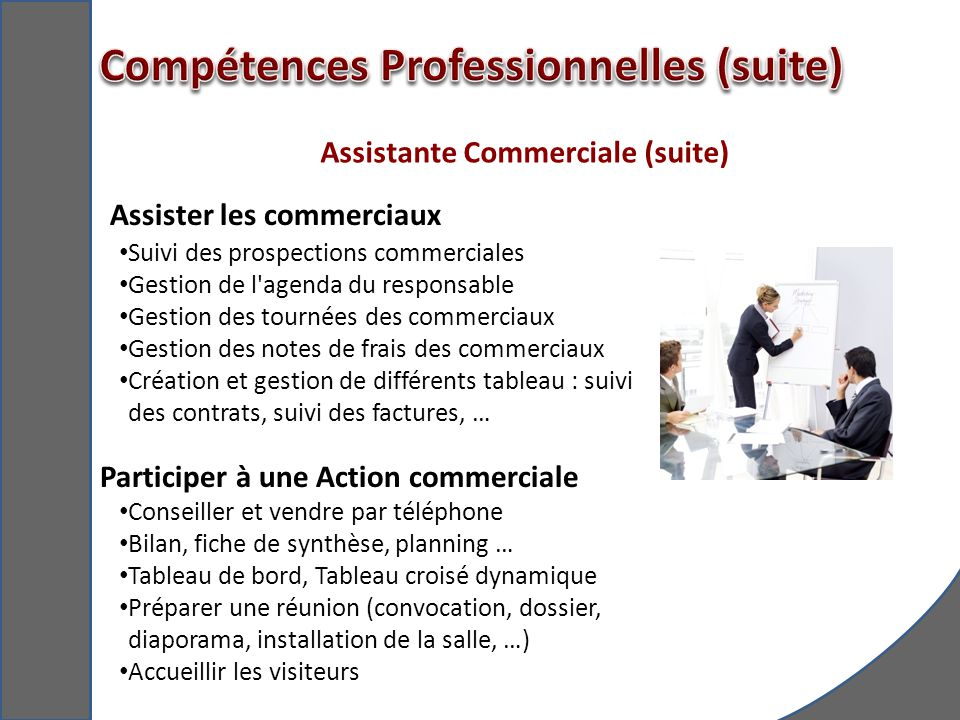 Assistante Commerciale (suite)