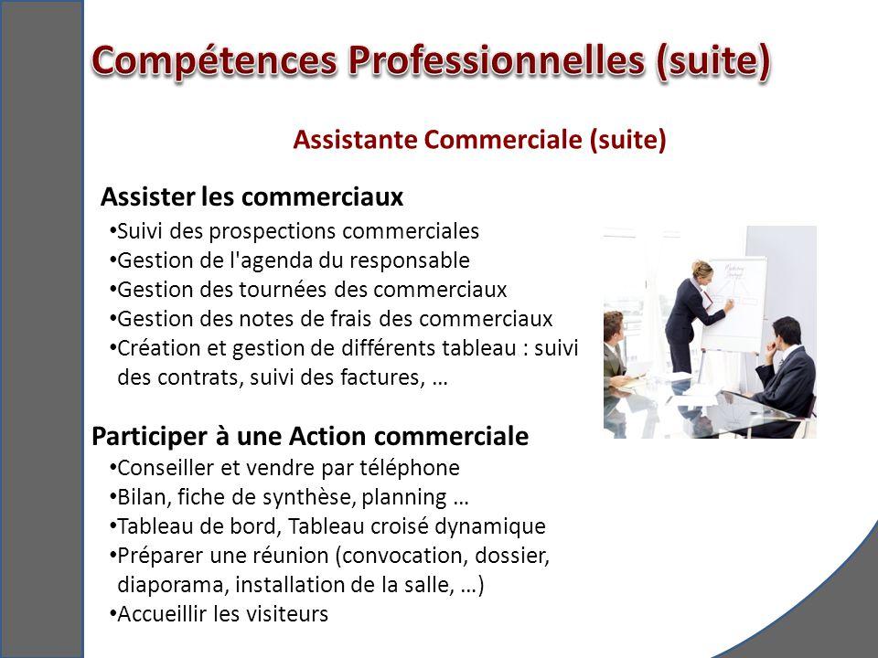 Assistante Commerciale (suite)