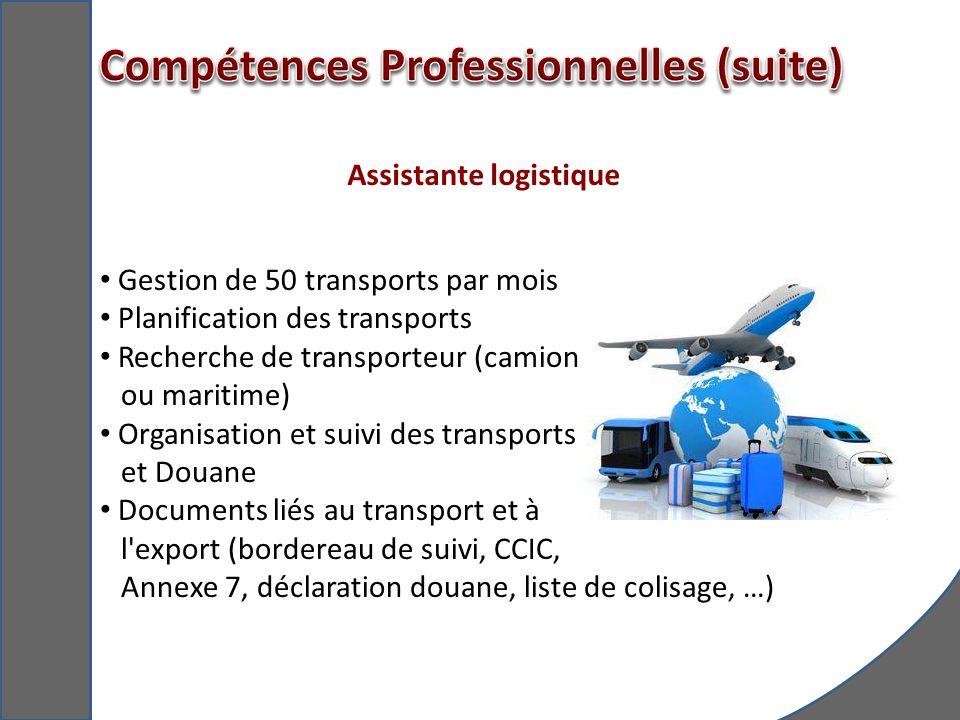 Assistante logistique