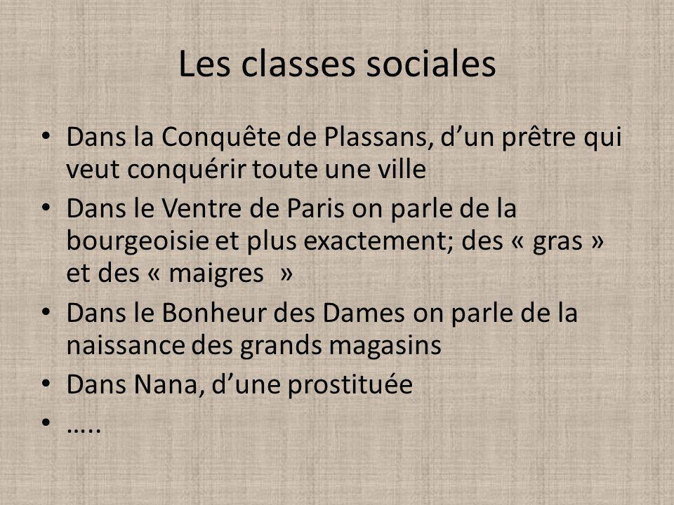 Les classes sociales Dans la Conquête de Plassans, d'un prêtre qui veut conquérir toute une ville.
