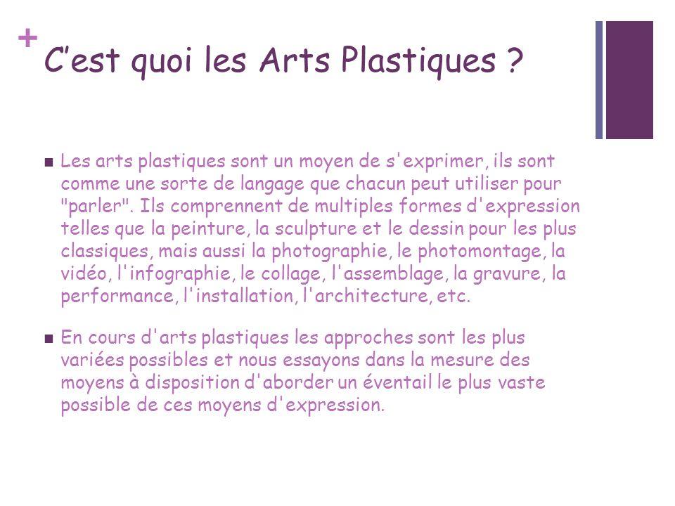 C'est quoi les Arts Plastiques