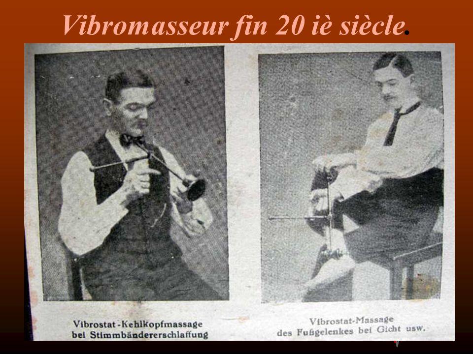 Vibromasseur fin 20 iè siècle.