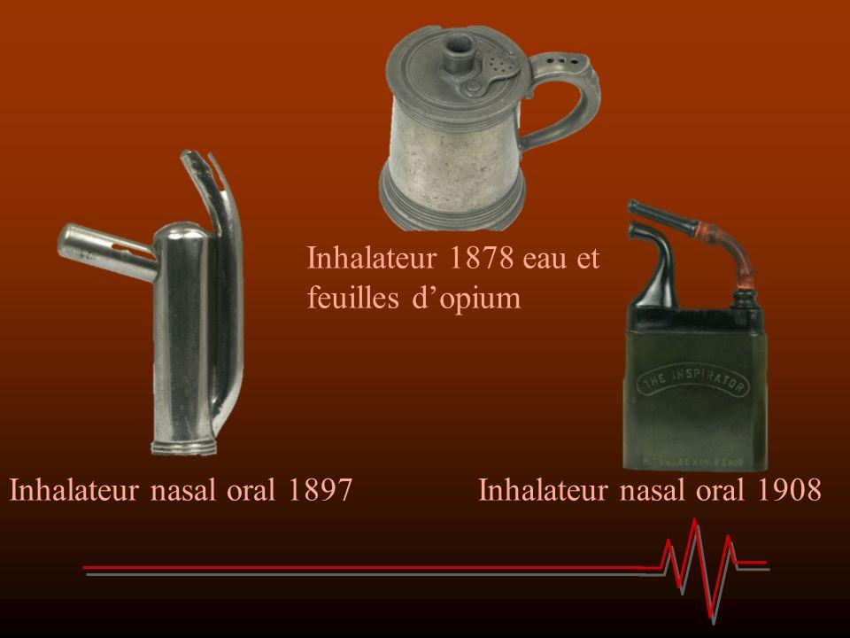 Inhalateur 1878 eau et feuilles d'opium