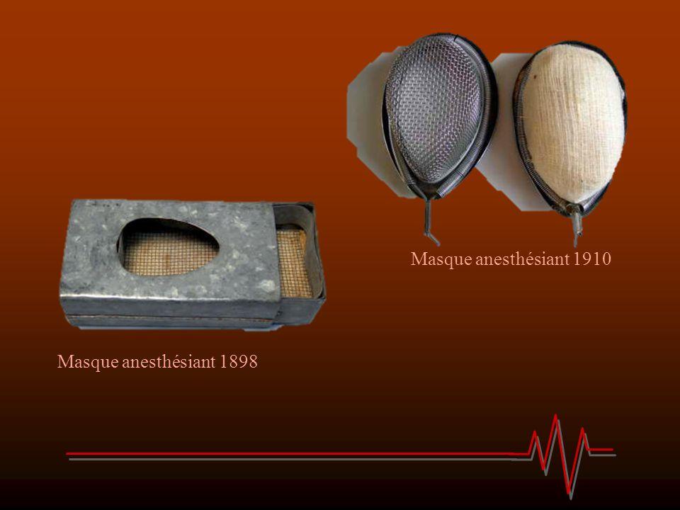 Masque anesthésiant 1910 Masque anesthésiant 1898