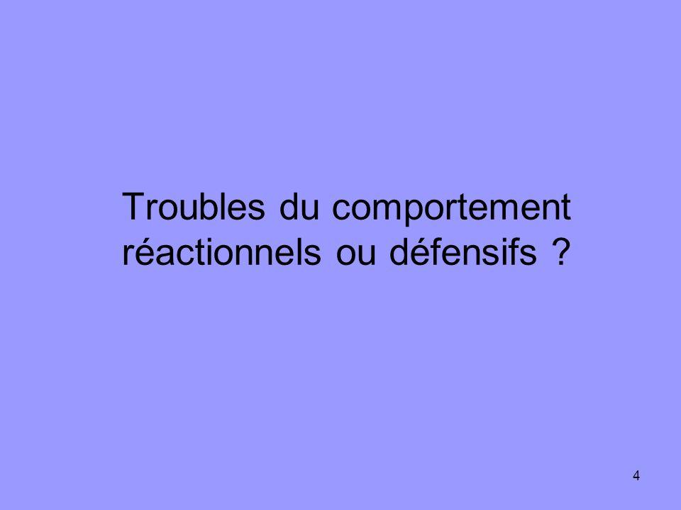 Troubles du comportement réactionnels ou défensifs