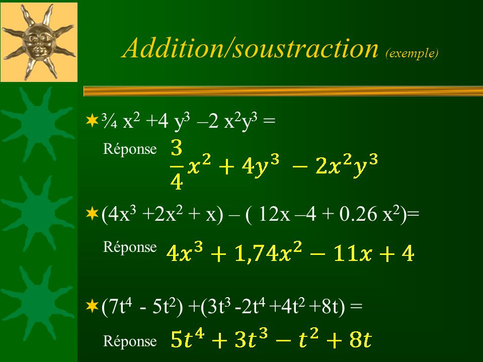 Addition/soustraction (exemple)