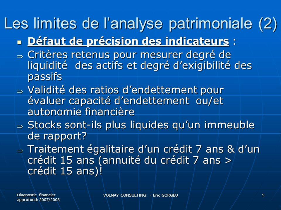 Les limites de l'analyse patrimoniale (2)