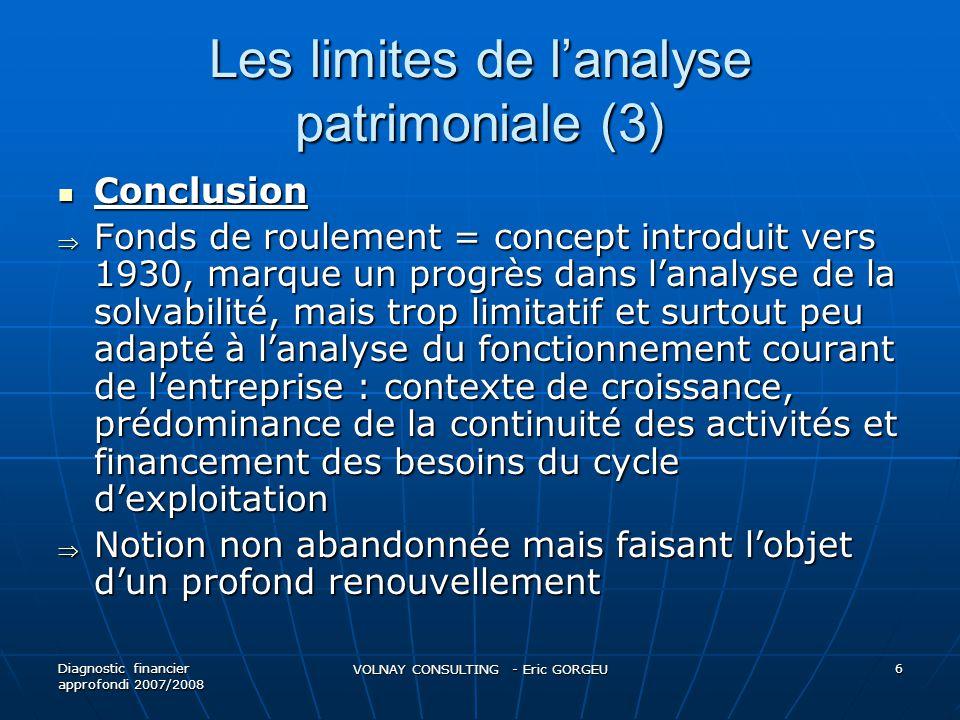 Les limites de l'analyse patrimoniale (3)