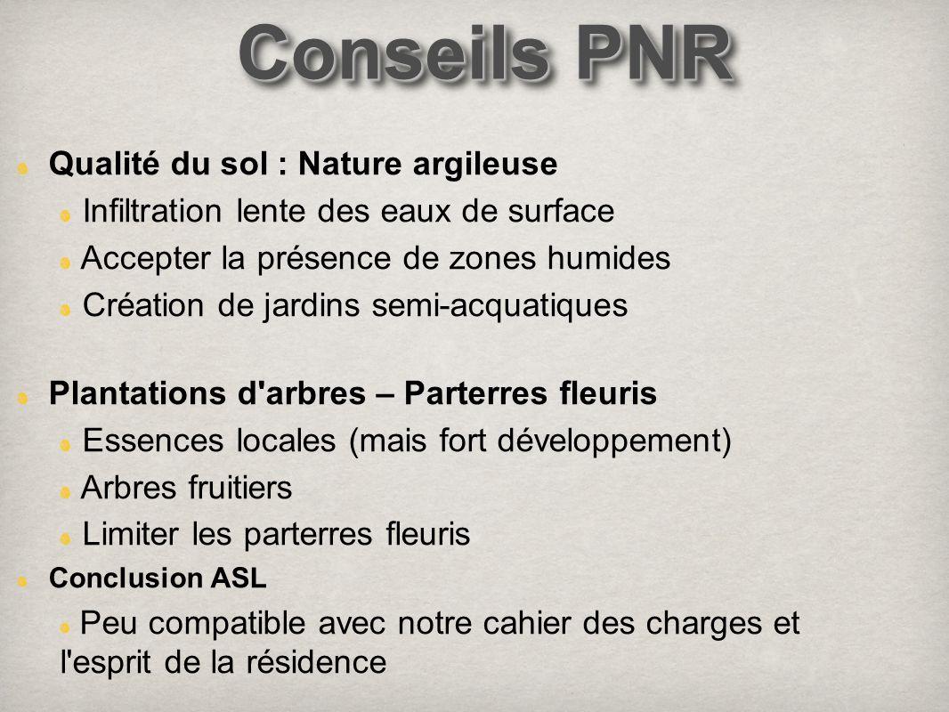 Conseils PNR Qualité du sol : Nature argileuse