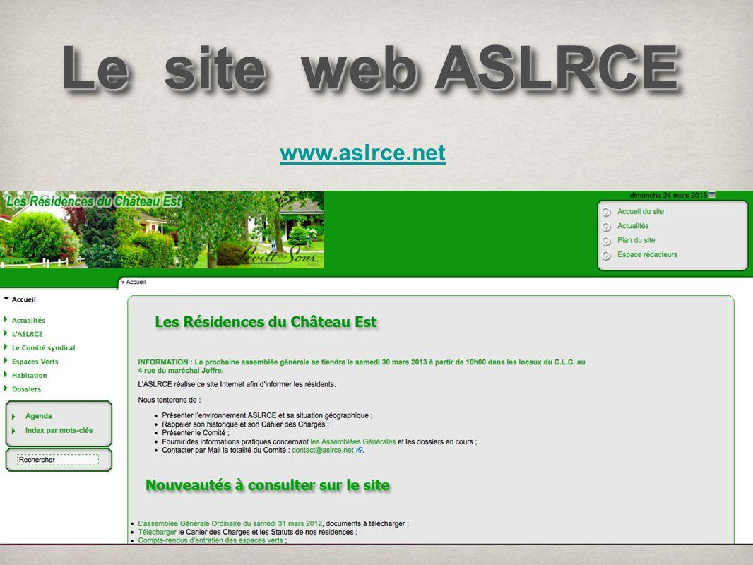 Le site web ASLRCE www.aslrce.net