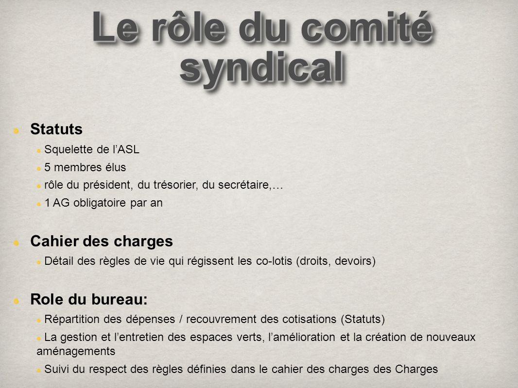 Le rôle du comité syndical