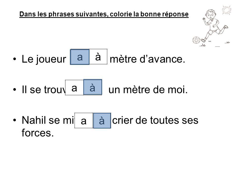 Dans les phrases suivantes, colorie la bonne réponse