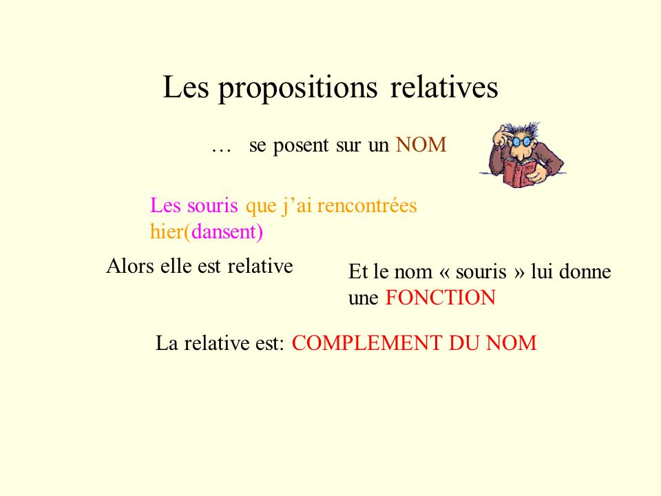 Les propositions relatives