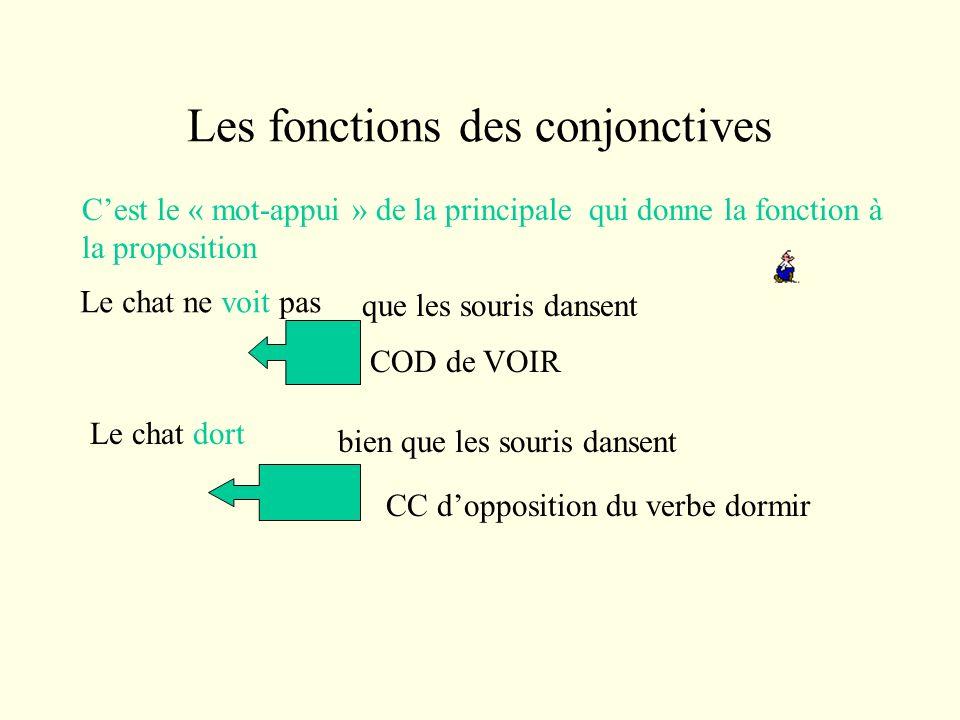 Les fonctions des conjonctives