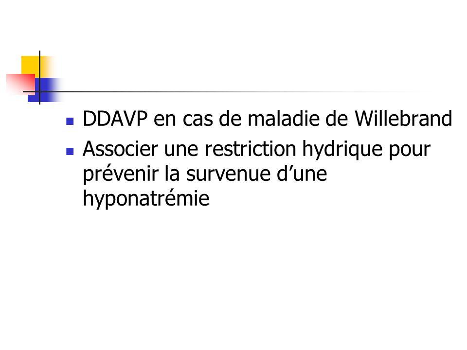 DDAVP en cas de maladie de Willebrand
