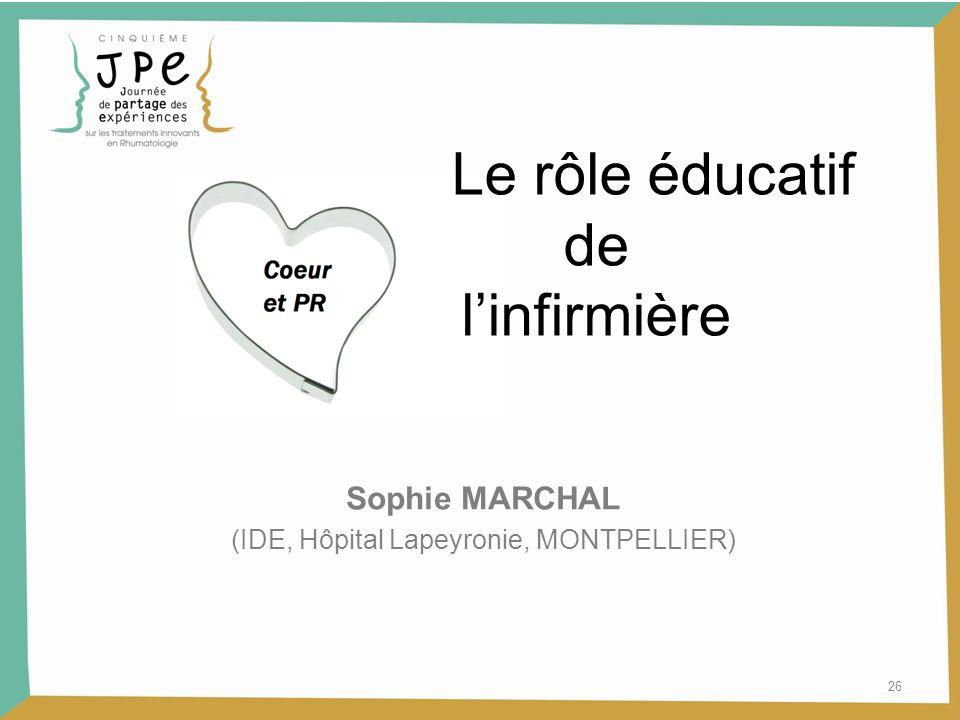 (IDE, Hôpital Lapeyronie, MONTPELLIER)