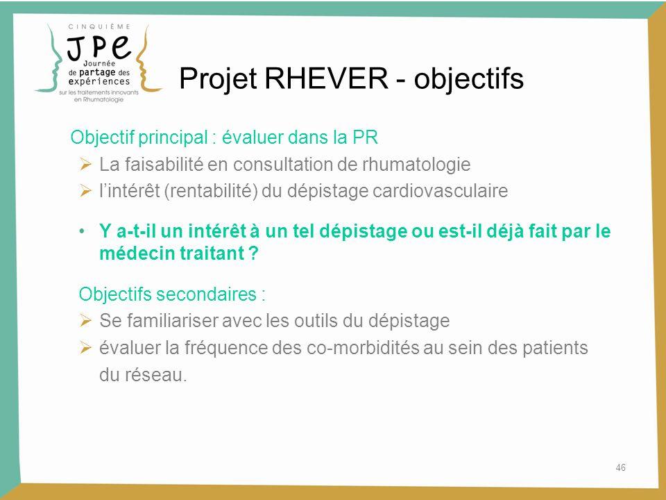 Projet RHEVER - objectifs