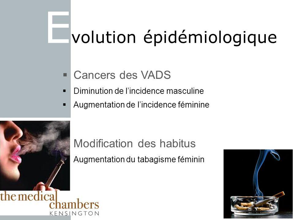Evolution épidémiologique