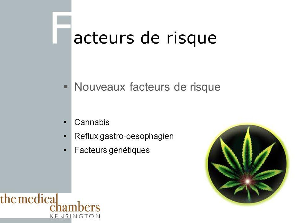 Facteurs de risque Nouveaux facteurs de risque Cannabis
