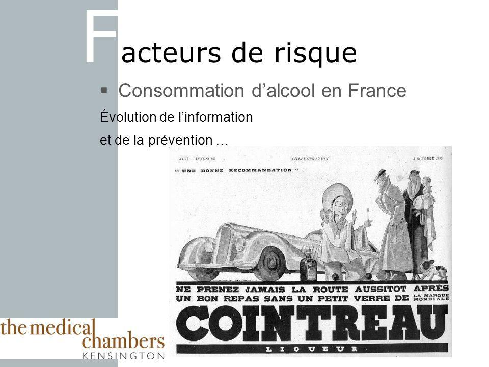 Facteurs de risque Consommation d'alcool en France