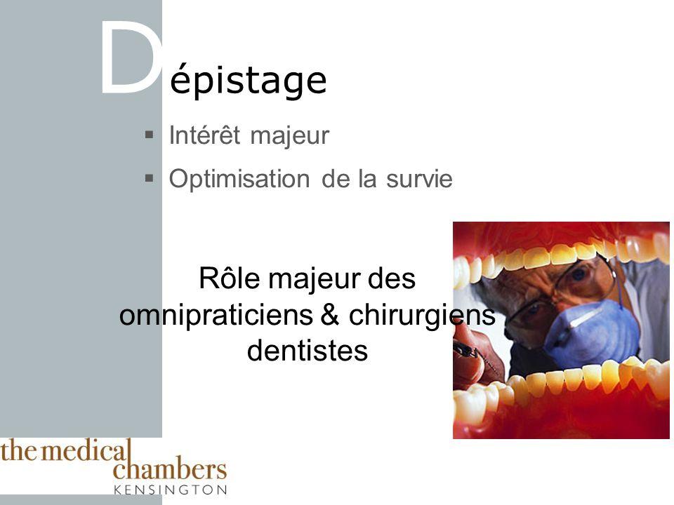 Rôle majeur des omnipraticiens & chirurgiens dentistes