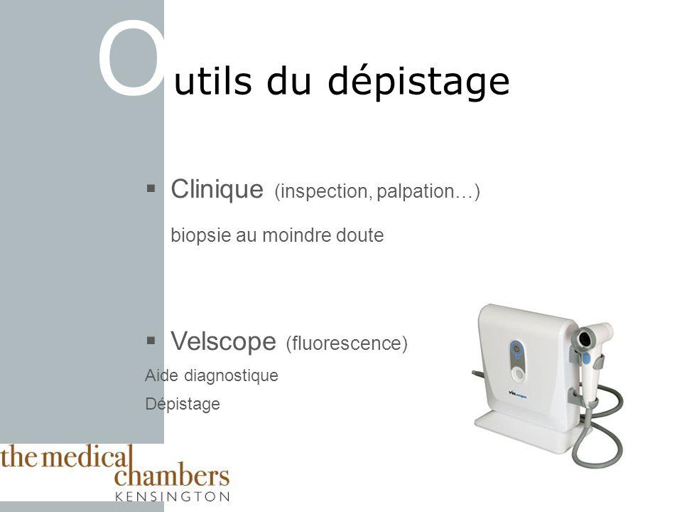 Outils du dépistage Clinique (inspection, palpation…)