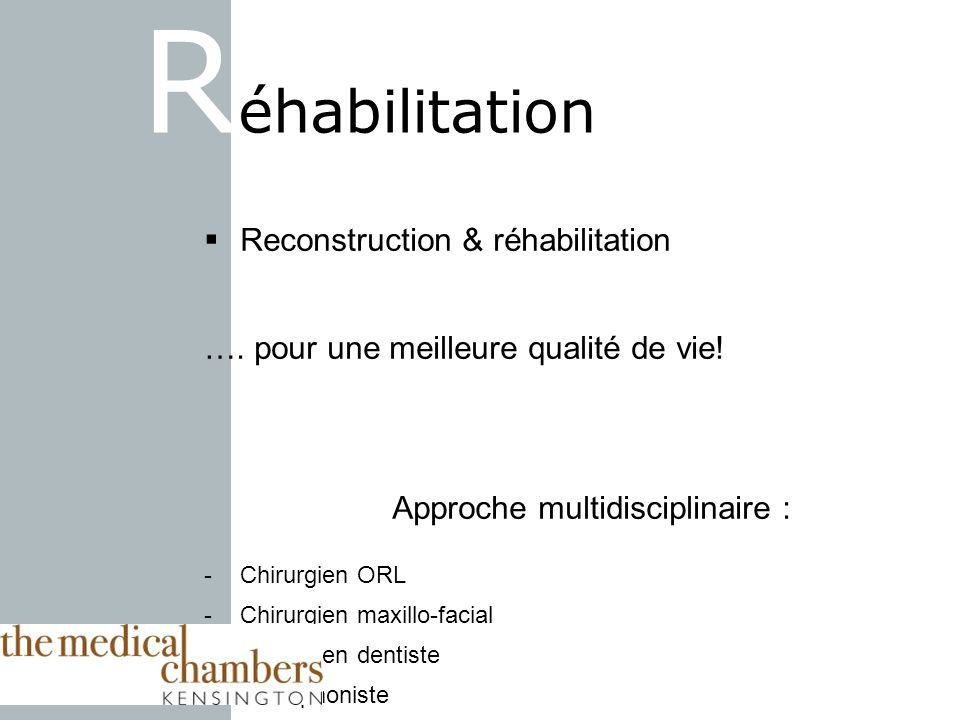 Réhabilitation Reconstruction & réhabilitation