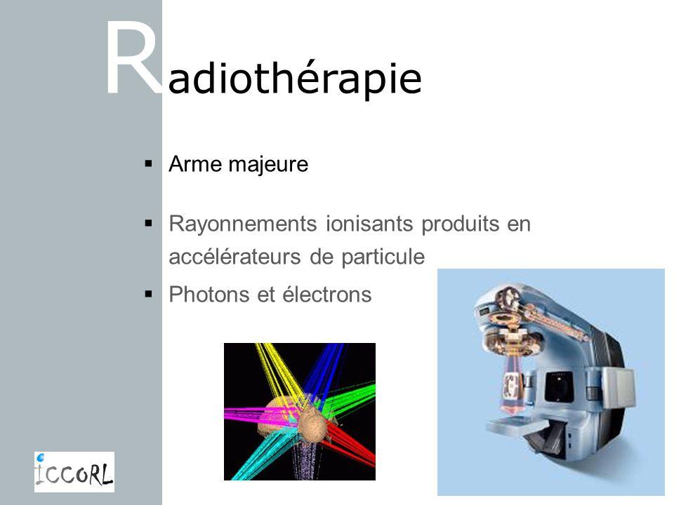 Radiothérapie Arme majeure