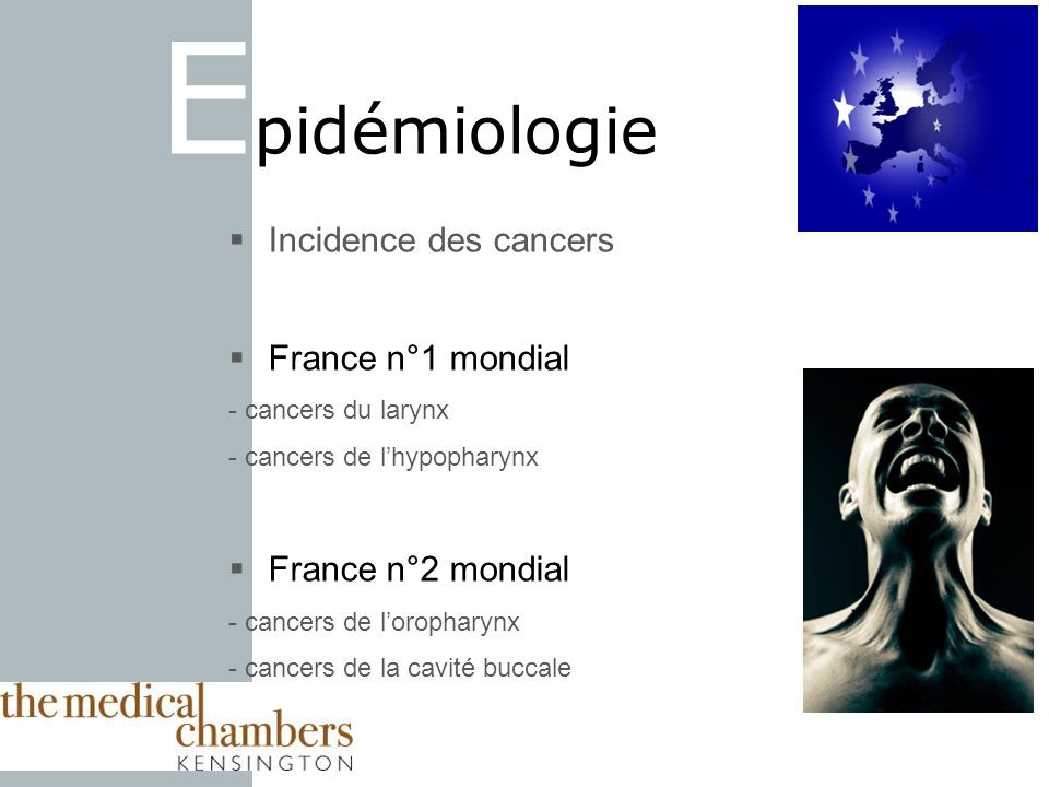 Epidémiologie Incidence des cancers France n°1 mondial