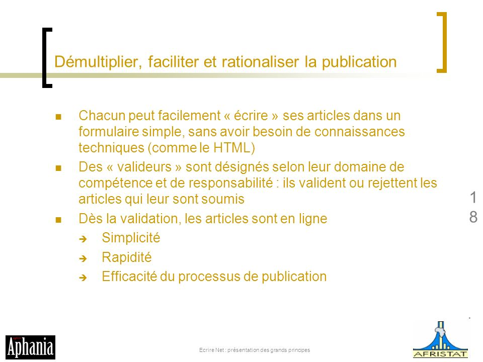 Démultiplier, faciliter et rationaliser la publication