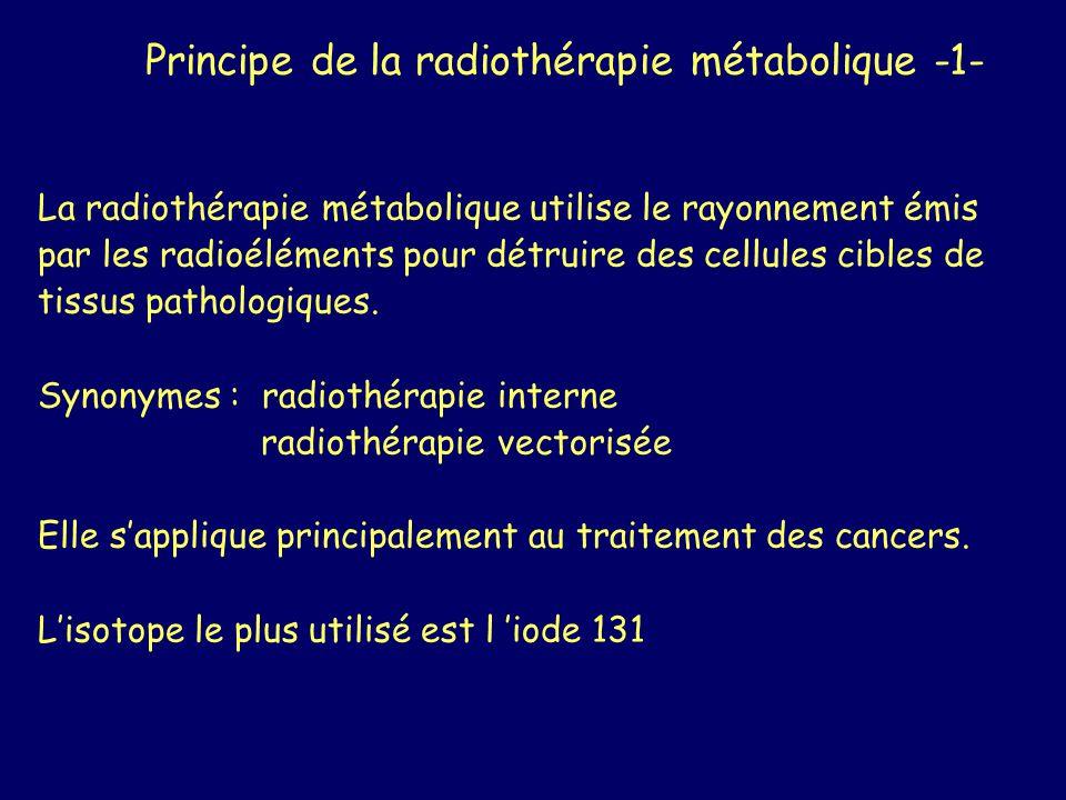 Principe de la radiothérapie métabolique -1-