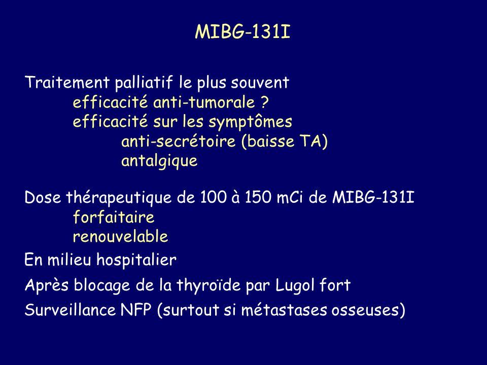 MIBG-131I Traitement palliatif le plus souvent