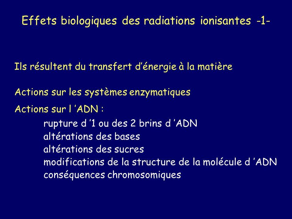 Effets biologiques des radiations ionisantes -1-