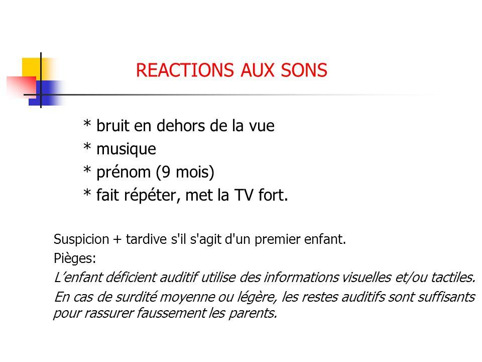 REACTIONS AUX SONS * musique * prénom (9 mois)
