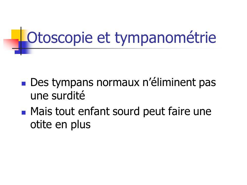 Otoscopie et tympanométrie
